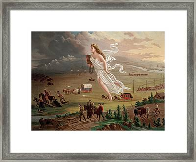 Westward Ho Allegorical Female Figure Framed Print