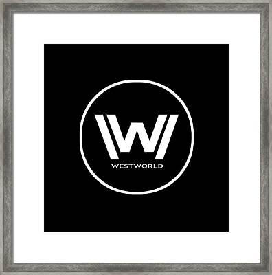 Westworld Logo Framed Print