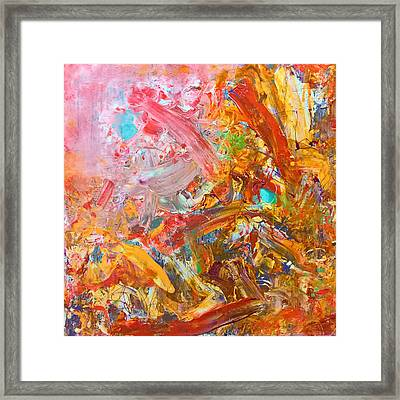 Wet Abstract #91517 Framed Print