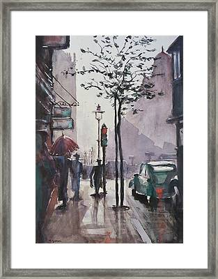 Framed Print featuring the painting Wet Afternoon by Geni Gorani