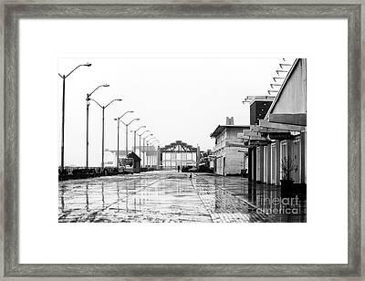 Wet Asbury Park Boardwalk Framed Print