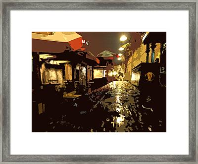 Wet Bar And Patio Framed Print
