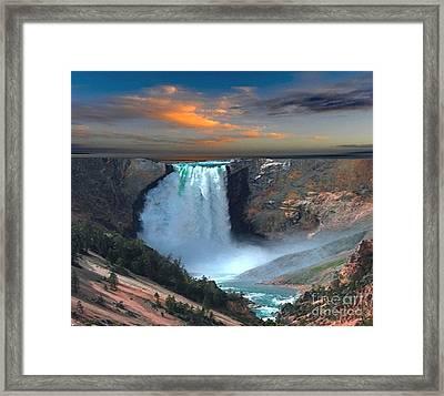 Wet Beauty Framed Print