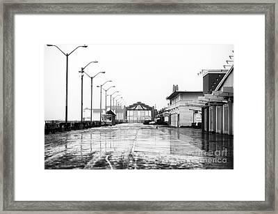 Wet Boardwalk Framed Print