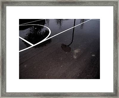 Wet Court Wc  Framed Print by Lyle Crump