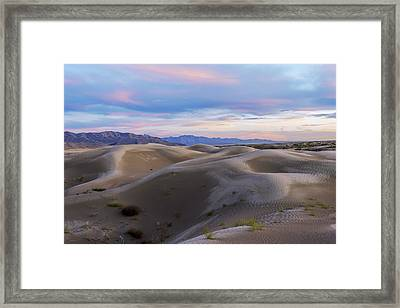 Wet Dunes Framed Print