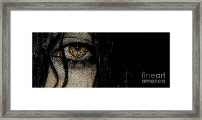 Wet Eye 3 Framed Print
