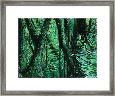 Wet Forest Framed Print