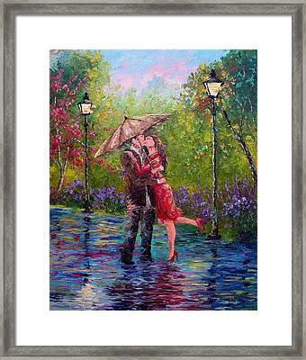 Wet Kiss Framed Print
