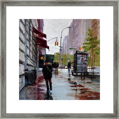 Wet Morning, Early Spring Framed Print by Peter Salwen