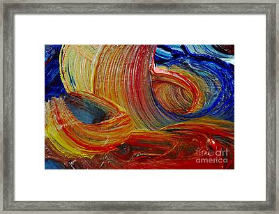 Wet Paint - Run Colors Framed Print by Michal Boubin