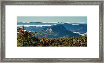 Wet Reflections Looking Glass Rock Art Blue Ridge Parkway Art Framed Print by Reid Callaway