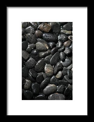 Zen Rocks Framed Prints