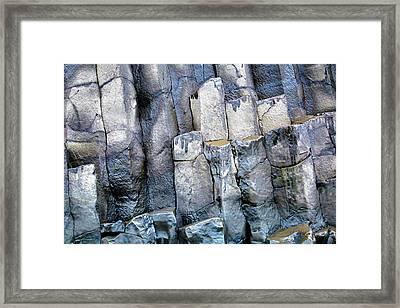 Framed Print featuring the photograph Wet Rocks 2 by Hitendra SINKAR