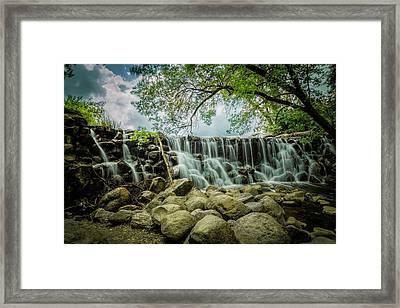 Wet Rocks Framed Print by Jamie Grunewald