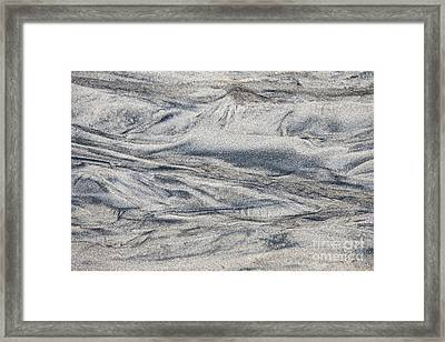 Wet Sand Abstract I Framed Print by Elena Elisseeva
