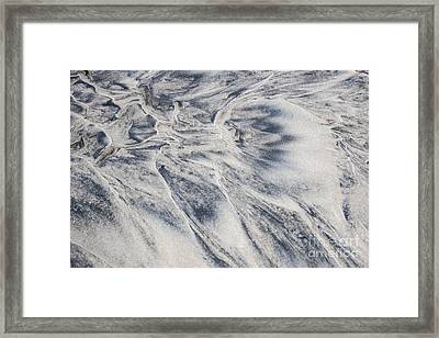 Wet Sand Abstract II Framed Print by Elena Elisseeva