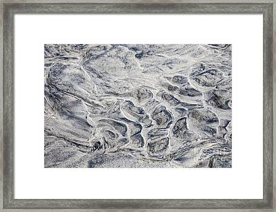 Wet Sand Abstract Iv Framed Print by Elena Elisseeva