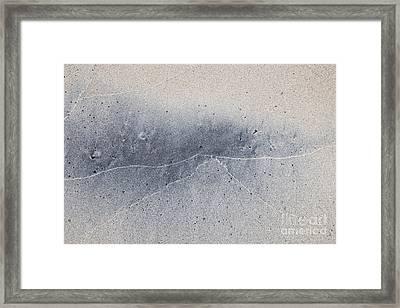 Wet Sand Abstract V Framed Print by Elena Elisseeva