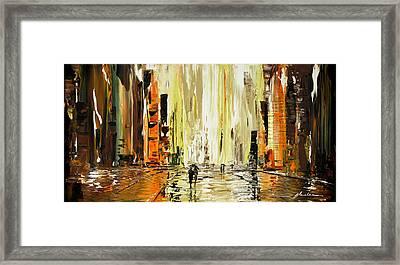 Wet Square Framed Print