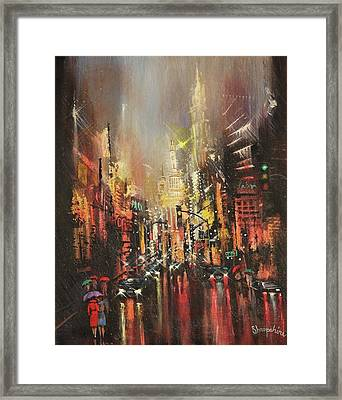 Wet Streets Framed Print