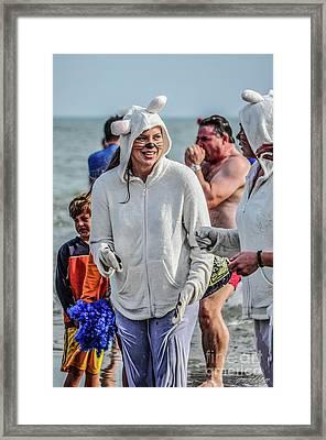 Wet Wabbit Framed Print by Yvette Wilson