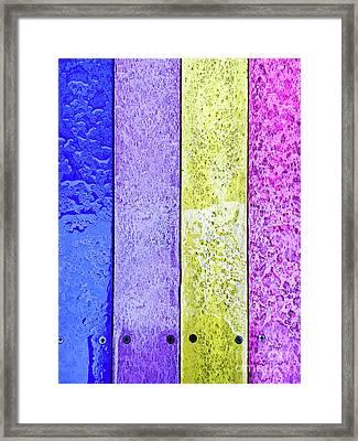 Wet Wood Panels Framed Print by Tom Gowanlock