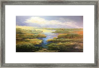 Framed Print featuring the painting Wetlands by Helen Harris