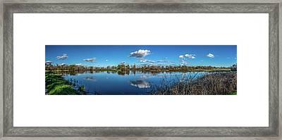 Wetlands Panorama  Framed Print