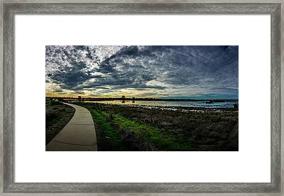 Wetlands Sunset Panorama Framed Print