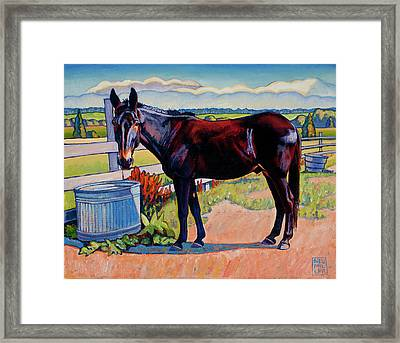 Wetting His Whistle Framed Print