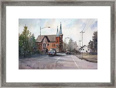 Weyauwega Church Framed Print