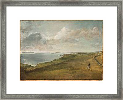 Weymouth Bay From The Downs Above Framed Print by MotionAge Designs