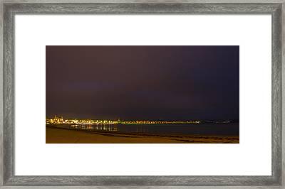 Weymouth Bay Night Framed Print by David French