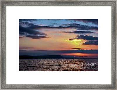 Weymouth Esplanade Sunrise Framed Print