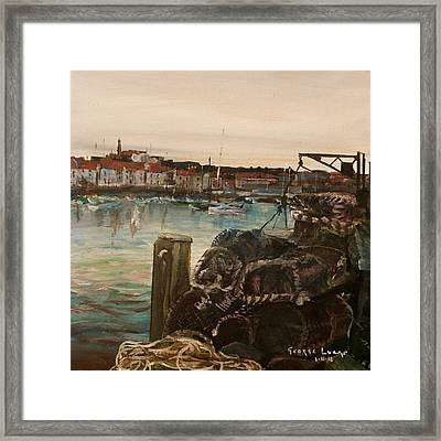 Weymouth Harbor, Uk Framed Print by George Lucas