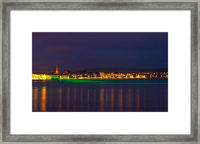 Weymouth Laser Nights Framed Print by David French