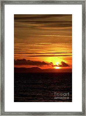 Framed Print featuring the photograph Weymouth Sunrise by Baggieoldboy