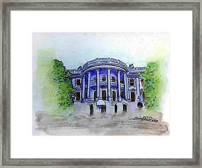 W.h. Framed Print by Saundra Lee York