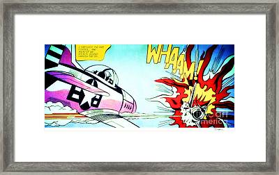 Whaam Framed Print