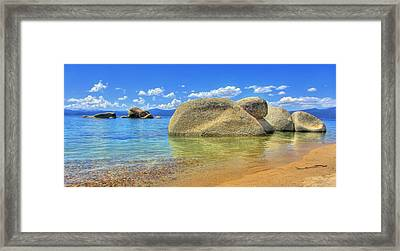 Whale Beach Lake Tahoe Framed Print by Brad Scott