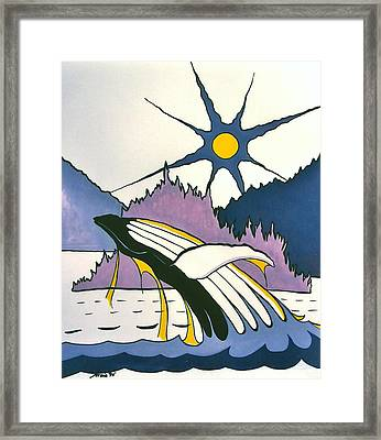 Whale-charlotte Islands Framed Print by Arnold Isbister