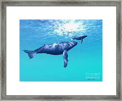 Whale Company Framed Print by Corey Ford