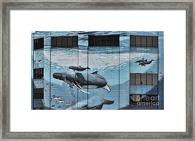 Whale Deco Building  Framed Print by Chuck Kuhn