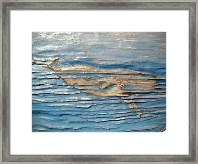 Whale Framed Print by Doris Lindsey