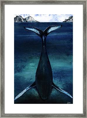 whale II Framed Print by Anthony Burks Sr