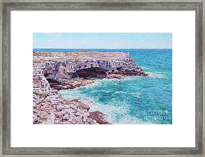 Whale Point Cliffs Framed Print