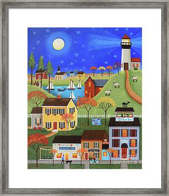 Whale Watcher's Cove Framed Print