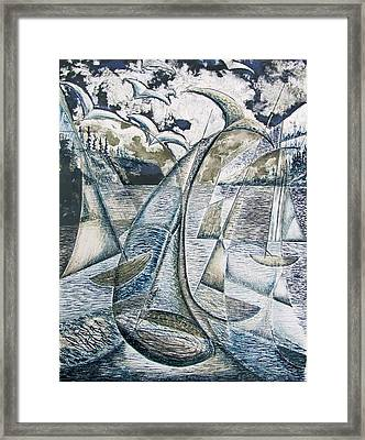 Whale Watching Framed Print by Douglas Pike