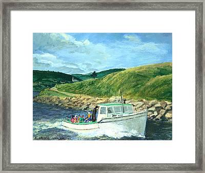 Whale Watching  Nova Scotia Framed Print by Ethel Vrana
